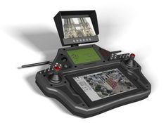The EVO IV is for UAV pilots who can not be content with a simple tablet and interface to manage their professional tasks and applications. A station that allows you to control your drone with great precision aerial work both indoors and outdoors. Drones, Drone Quadcopter, Drone Technology, Technology Gadgets, Spy Gadgets, Futuristic Technology, Radios, Air Drone, Drone Diy