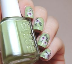 Spring nails - Born Pretty Store Water Decals - Floral nails