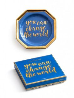 CHARM SCHOOL TRAY YOU CAN CHANGE THE WORLD