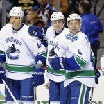 Vancouver Canucks moved into sole possession of first place in the Northwest Division