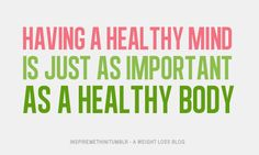 Having a healthy mind, body and spirit is so important!
