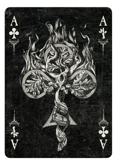 ARCANA playing cards by Chris Ovdiyenko - Kickstarter. Ace of Clubs/Wands