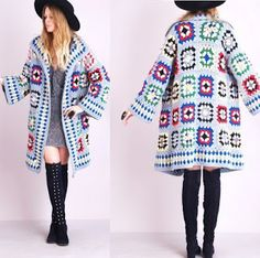 Crochet Patterns to Try:blogspot. Granny Square Fall Coat Photo Tutorial