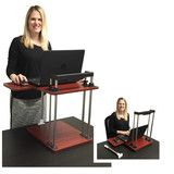 The UpTrak Standing Desk - The Only Sit/Stand Desk Custom Designed for Cubicles! (Cherry)