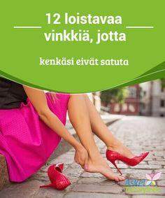 12 loistavaa vinkkiä, jotta kenkäsi eivät satuta  Voidaksesi tehdä #kengistäsi vähän isommat ja estää niitä #hiertämästä, voit laittaa niihin alkoholia tai laittaa ne jopa #pakastimeen vesipussit sisällään.  #Mielenkiintoistatietoa