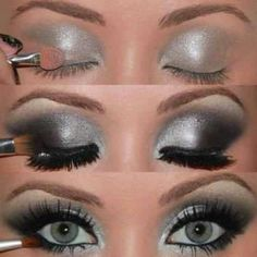 gorgeous. thinking I might try something like this for a new years eve look.