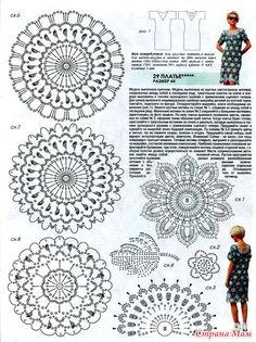 Большие и маленькие круглые мотивы в сочетании с элементами ирланского кружева в этом платье создают впечатление морозного узора на стекле. Журнал Мод №617 2018.