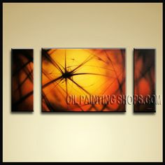 Astonishing Modern Abstract Painting Oil Painting On Canvas Panels Gallery Stretched Abstract. This 3 panels canvas wall art is hand painted by Bo Yi Art Studio, instock - $154. To see more, visit OilPaintingShops.com