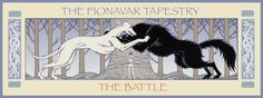 Images of Fionavar: The Battle between Cavall and Galadan in Mornirwood Book Club Books, Book Art, Fantasy Literature, Summer Trees, Fairytale Art, Fairy Tales, Battle, Tapestry, Reading