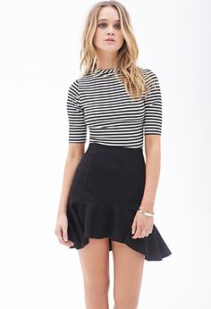 Textured Knit Fluted Skirt | FOREVER21 - 2000084955
