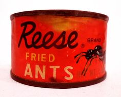 Reese Fried Ants - Vintage tinned food from Japan, 1950's. Them!