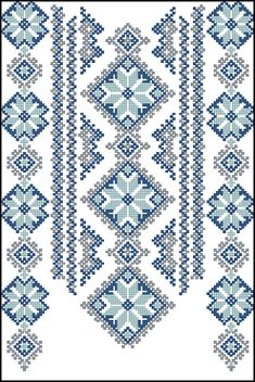 Ukraine, from Iryna Embroidery Neck Designs, Folk Embroidery, Embroidery Patterns Free, Hand Embroidery Stitches, Cross Stitch Embroidery, Machine Embroidery, Cross Stitch Borders, Modern Cross Stitch Patterns, Cross Stitch Designs