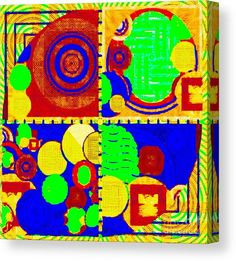 Canvas Print featuring the digital art Multidemensional by Caroline Gilmore