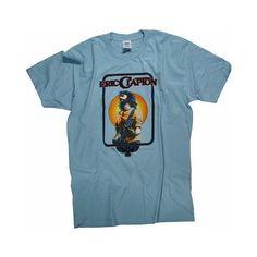 Eric Clapton Merchandise Eric Clapton Women's Retro T-Shirt Medium/OS (€30) ❤ liked on Polyvore featuring tops, t-shirts, retro tees, blue top, retro tops, retro t shirts and blue t shirt
