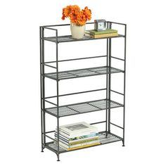 4-shelf Iron Folding Bookcase