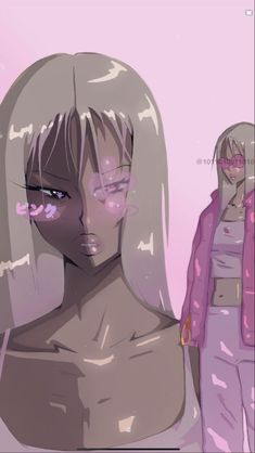 Black Cartoon Characters, Black Girl Cartoon, Black Girl Art, Gothic Anime, Cartoon Kunst, Anime Kunst, Kunst Inspo, Art Inspo, Aesthetic Art