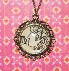 Virgo Zodiac Necklace by EternalGirl on Etsy, $11.00