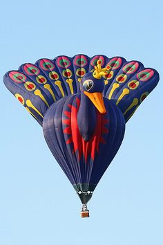 Peacock hot air balloon - photo by Bert Visser, via Flickr; at Barneveld, The Netherlands