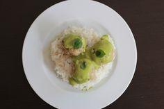 Boulettes de poisson, sauce menthe-coco-coriandre