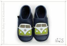 Lederpuschen,++Krabbelschuhe,+Auto+Bus+,+Bulli+von+GJ-S++Online-Shop+auf+DaWanda.com
