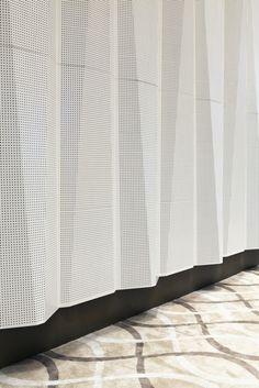 Tabanlıoğlu Architects   Sipopo Congress Center. *Perforated metal 'curtain'