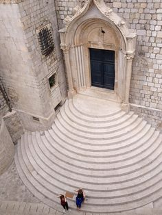 Stairs to the Dominican Monastery Dubrovnik Croatia [24483264] [OC] via Classy Bro