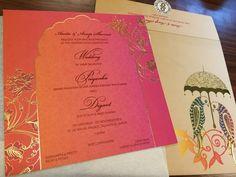 Wedding Invites - Digant & Priyanka wedding story | WedMeGood #wedmegood #weddinginvites #invites