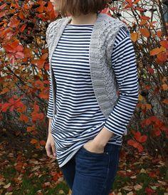 Wild vest - free knitting pattern - Pickles