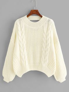 Cut Out Back Solid Sweater -SheIn(Sheinside) Tumblr Summer Outfits, Cute Summer Outfits, Simple Outfits, Trendy Outfits, Fall Outfits, Cute Outfits, Fashion Outfits, Cute Sweaters, Winter Sweaters