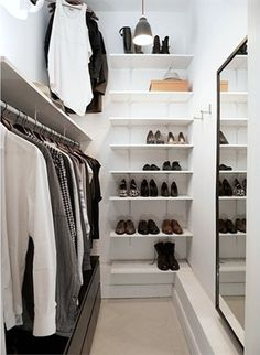 Shoe shelves... Hubby can probably do this :)