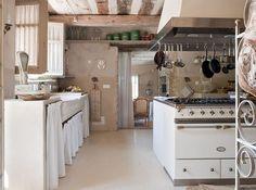 White Lacanche stove