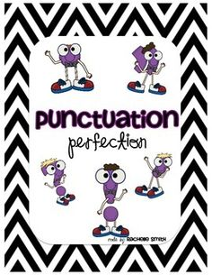 There are 6 posters included:*Question Mark*Exclamation Point*Period*Comma*Quotation Marks*Apostrophe BONUS POSTER ADDED {1/4/14}*Bolded WordsThere are 7 recording sheets to practice each of the punctuations marks.The posters are aligned with the Common Core State Standards {language arts} for 1st grade, but will work in K-3 classrooms! :)-Rachelle