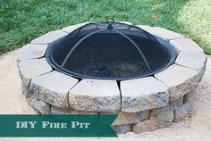 How to DIY a Backyard Fire Pit --Easy Weekend Project.