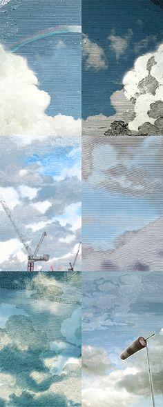 Little Owl Design: Dutch Sky Wallpaper in Summer-Blue.