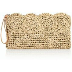 Designer Clothes, Shoes & Bags for Women Beige Purses, Metallic Clutches, Summer Handbags, Summer Purses, Crochet Handbags, Crochet Purses, Macrame Purse, Metallic Handbags, Crochet Tote