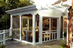 Screen porch idea.  A great way to survive those Alberta Summers!