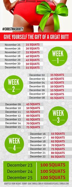 Start Today for A Better Butt by Christmas!