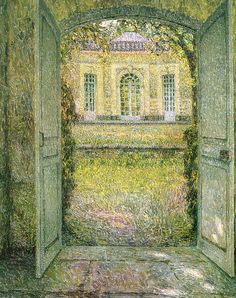 French Pavillion at Versailles - Henri Le Sidaner 1920
