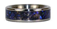 Titanium Ring with Black Opal Inlay