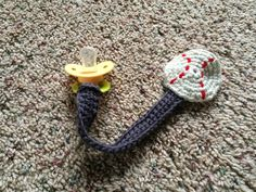 Grey Walls, Blue Couch: Crochet Pacifier Clip Pattern