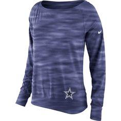 competitive price 83b11 1c193 NFL Dallas Cowboys Nike Womens Warpspeed Epic Crew Sweatshirt ΓÇô Navy Blue  Dallas Cowboys Hoodie,