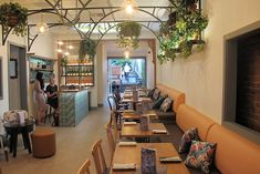 Covent Garden is a splendid botanical-themed bar and eatery with tropical rear garden in a colonial West End store. West End Brisbane, Things To Do In Brisbane, Retail Interior Design, Gin Bar, Garden Bar, Covent Garden, Restaurant Bar, Places To Go, Ceiling