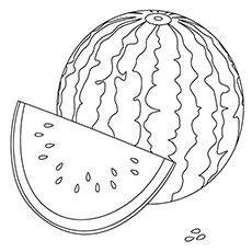 Watermelon Coloring Page Summer Coloring Pages Fruit Coloring Pages Coloring Pages For Kids