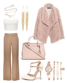 Pretty in Pink by ashseymour-beauty on Polyvore featuring polyvore fashion style Forever New Zara Wallis Wild Diva Michael Kors Carbon & Hyde Anne Klein Panacea