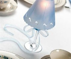 DIY - an Elegant Craft:: Wine glass lamps made with Vellum shades (So Simple Use Regular Wine Glasses &  Just Make Shade!)