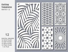 This 12 SVG DXF Eps Png Bundle Cut Template Modern Decorative is just one of the custom, handmade pieces you'll find in our patterns & blueprints shops. Laser Cut Screens, Laser Cut Panels, Decoration Facade, Kreis Logo, Cnc Cutting Design, Modelos 3d, Decorative Panels, Etsy, Wooden Signs