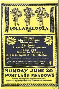 Lollapalooza 1993 at Portland Meadows (Portland) on 20 Jun 1993 – Last.fm