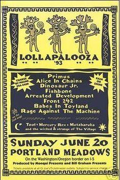 Lollapalooza 1993 at Portland Meadows (Portland) on 20 Jun 1993 – Last.fm
