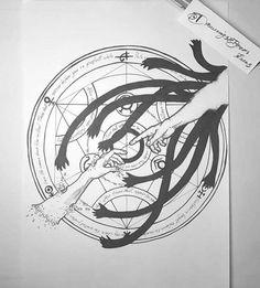 The touch of God - Fullmetal Alchemist tattoo design Native Tattoos, Dope Tattoos, Badass Tattoos, Body Art Tattoos, Small Tattoos, Tattoos For Guys, Sleeve Tattoos, Tatoos, Ace Tattoo One Piece