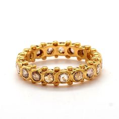 Rose cut Diamond Eternity Band--Could be my Anniversary choice. Gold Band Ring, Band Rings, Wishing Well, Rose Cut Diamond, Eternity Bands, Yellow Gold Rings, Wedding Rings, Engagement Rings, 20th Anniversary